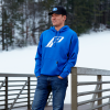 Men's Retro Hoodie Sweatshirt with Polaris® Logo, Royal - Image 4 of 4