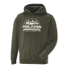 Men's Roseau Hoodie with Logo, Olive Heather - Image 2 of 3