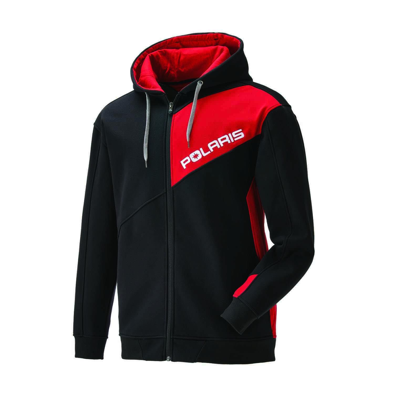 Men's Full Zip Hoodie - Black/Red