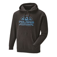 Men's Roseau Hoodie with Logo, Charcoal Heather