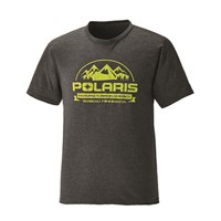 Men's Short-Sleeve Roseau Graphic Tee with Logo, Charcoal Heather
