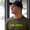 Men's Graphic T-Shirt with Polaris® Logo, Olive Heather - Image 2 of 3