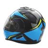 Modular 2.0 Adult Helmet with Electric Shield, Blue/Lime - Image 4 de 8