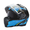 Modular 2.0 Adult Helmet with Electric Shield, Blue/Lime - Image 6 of 8