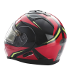 Modular 2.0 Adult Helmet with Electric Shield, Red/Lime - Image 5 de 8
