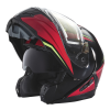 Modular 2.0 Adult Helmet with Electric Shield, Red/Lime - Image 7 de 8