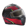 Modular 2.0 Adult Helmet with Electric Shield, Red/Lime - Image 3 of 8