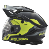 509® Delta Adult Moto Helmet with Removable Electric Shield, Black/Lime - Image 5 of 5