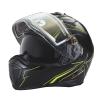 Modular 2.0 Adult Helmet with Electric Shield, Black/Lime - Image 7 de 8