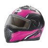 Modular 2.0 Adult Helmet with Electric Shield, Black/Pink - Image 1 of 9