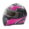 Modular 2.0 Adult Helmet with Electric Shield, Black/Pink - Image 1 de 9