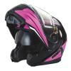 Modular 2.0 Adult Helmet with Electric Shield, Black/Pink - Image 7 de 9