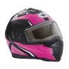 Modular 2.0 Adult Helmet with Electric Shield, Black/Pink - Image 3 de 9