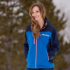 Women's Softshell Jacket with White Polaris® Logo, Blue - Image 3 de 3