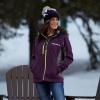 Women's Softshell Jacket with White Polaris® Logo, Purple - Image 3 de 4