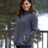 Women's Full-Zip Mid Layer Jacket with White Polaris® Logo, Gray - Image 3 of 3