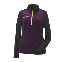 Women's Quarter-Zip Tech Hoodie with Polaris® Logo, Purple/Lime