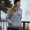 Women's Retro Hoodie Sweatshirt with Polaris® Logo, Gray - Image 3 of 3