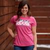 Women's Mountain Graphic T-Shirt with Polaris® Logo, Pink - Image 3 of 3
