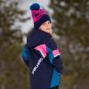 Youth Knit POM Beanie with Metallic Polaris® Tag, Navy/Pink - Image 6 de 6
