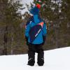 Youth Knit POM Beanie with Metallic Polaris® Tag, Blue/Orange - Image 7 de 7