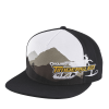 Men's Adjustable Mesh Snapback Hat with Timbersled® Graphic, Black/White - Image 1 de 2