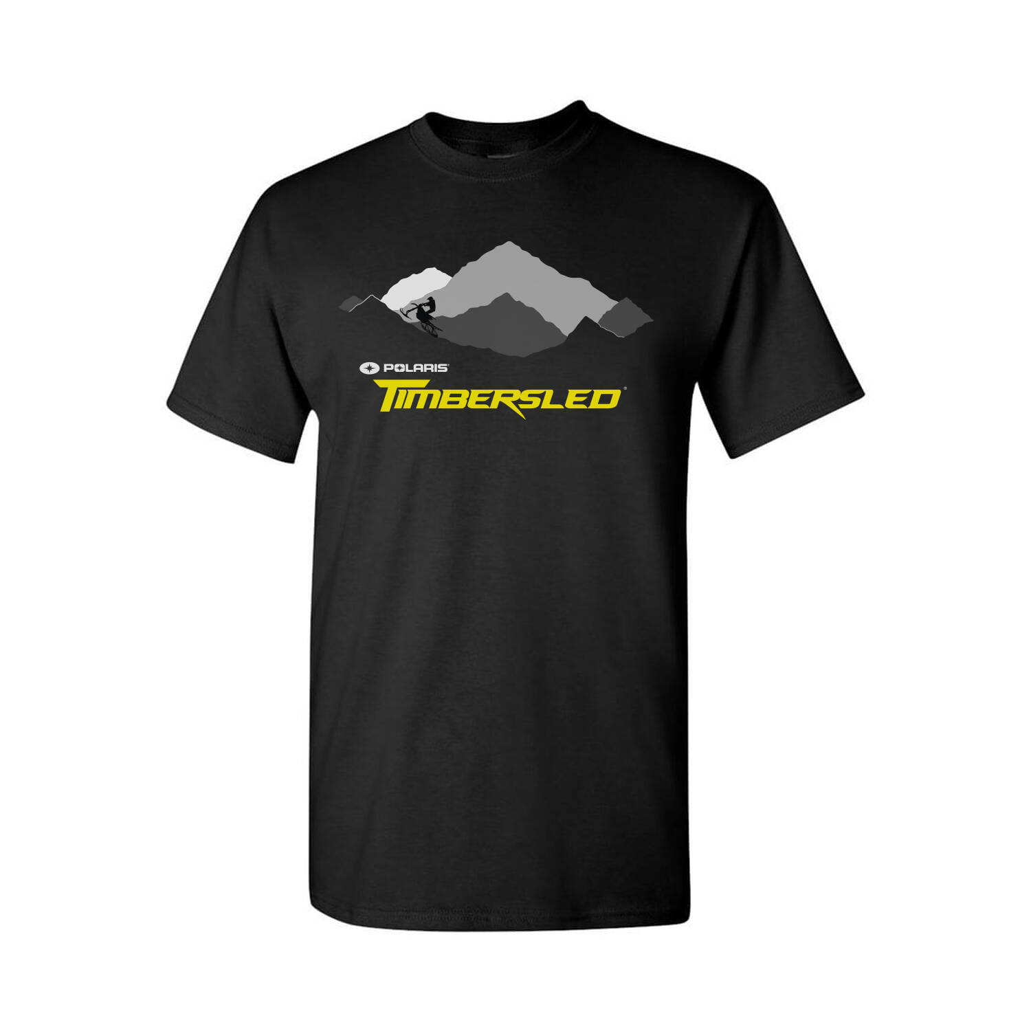 Men's Mountain Graphic T-Shirt with Timbersled® Logo, Black