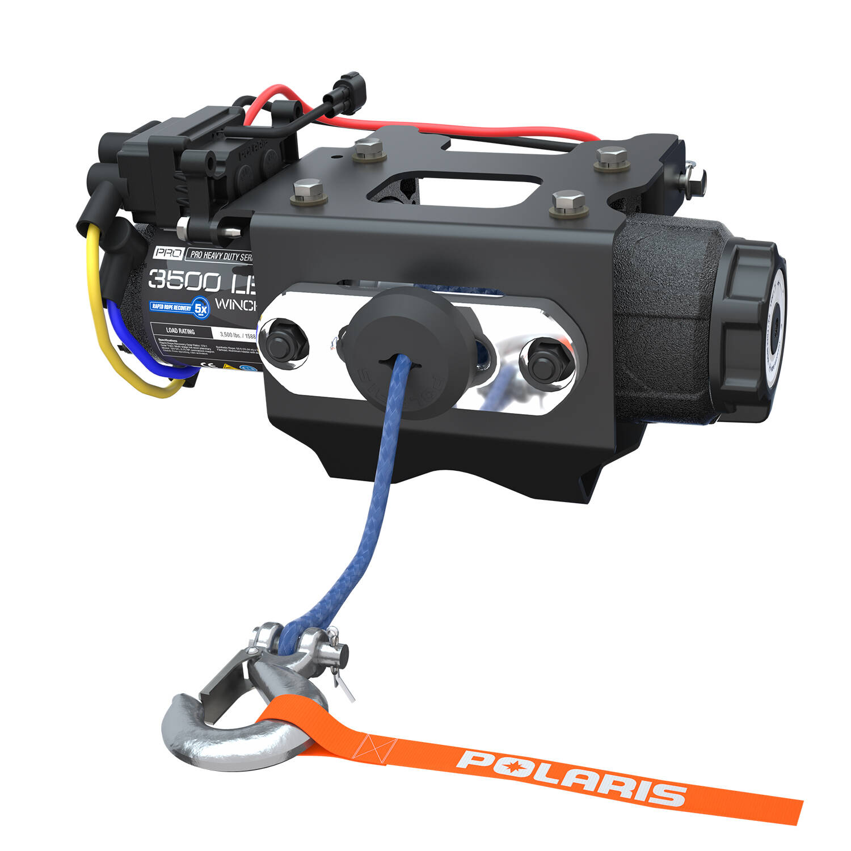 Polaris® PRO HD 3,500 Lb. Winch with Rapid Rope Recovery | Polaris ...
