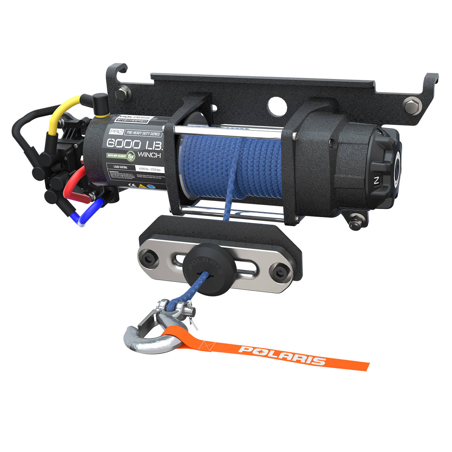 Polaris Winch Parts Diagram 6000 Hd Basic Guide Wiring Pro 6 000 Lb With Rapid Rope Recovery Rh Ranger Com Sportsman 500