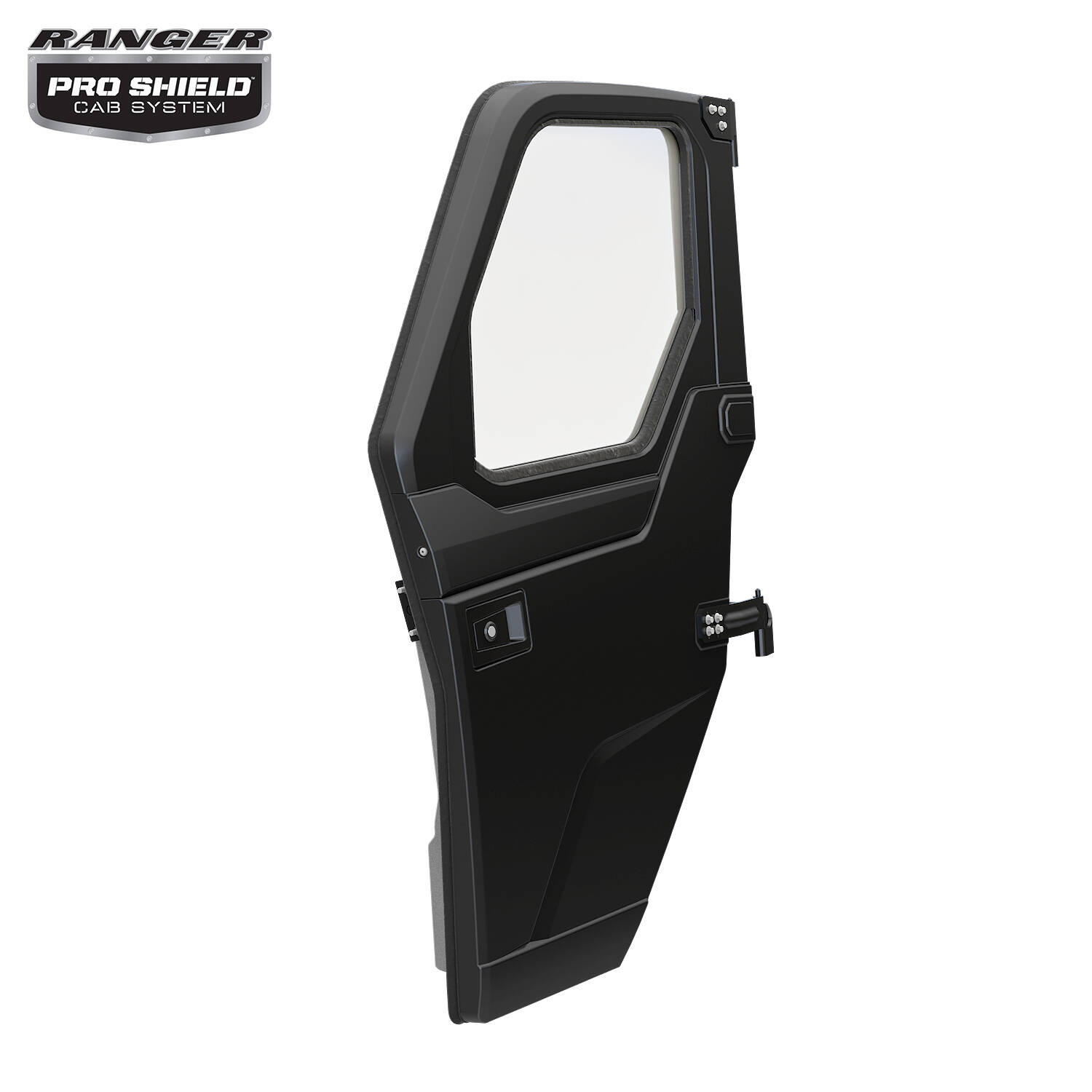Poly Front Door Set with Manual Windows, Black