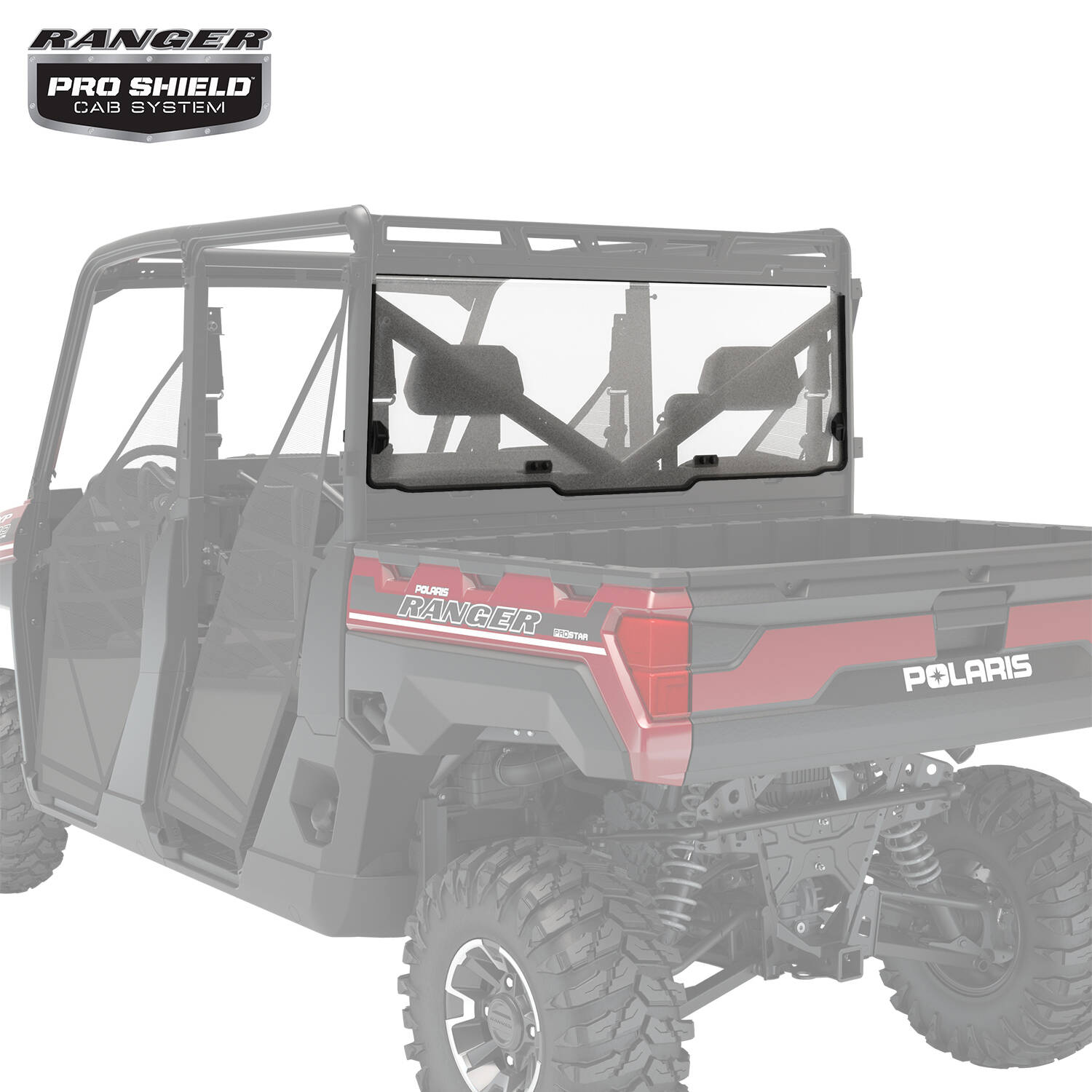 Lock & Ride® Rear Panel - Poly - Clear