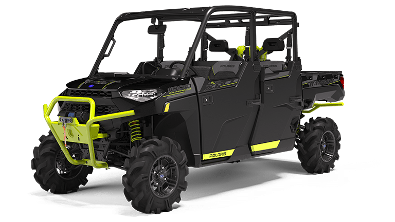 RANGER CREW XP 1000 EPS High Lifter Edition Onyx Black with Lime Squeeze Accents
