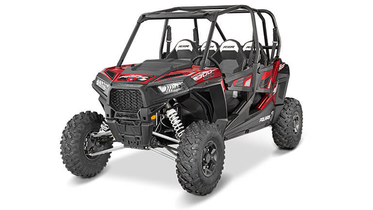 RZR® 4 900 EPS MATTE SUNSET RED