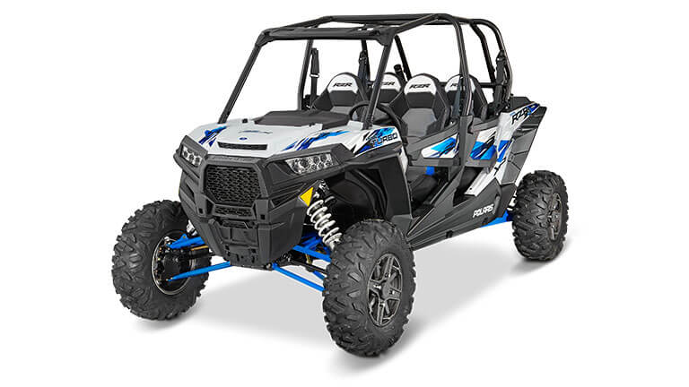 RZR XP® 4 TURBO EPS MATTE WHITE LIGHTNING