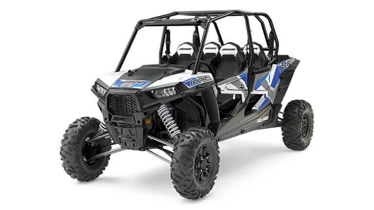 RZR XP® 4 1000 EPS White Lightning with Reflex Blue