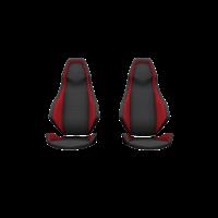 Velocity Street Sport Seats - Sunset Red - Pair