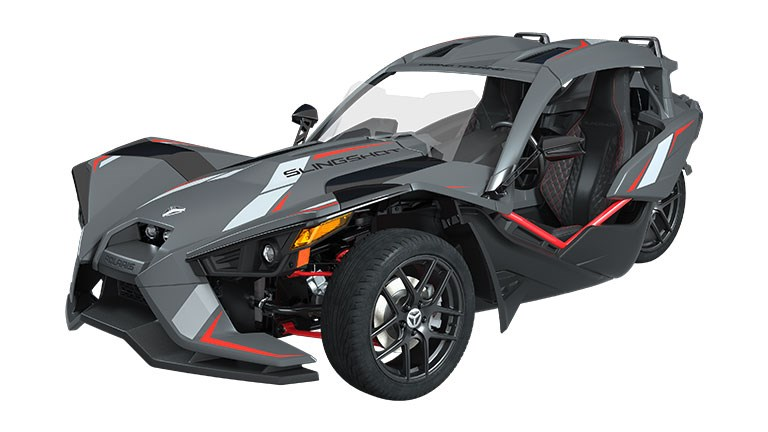 Slingshot Grand Touring LE Matte Cloud Gray & Indy Red