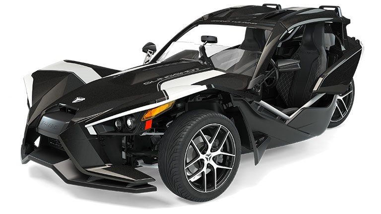 2019 Slingshot Grand Touring Black Crystal with White Pearl