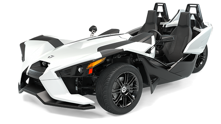Slingshot S White Lightning with Gloss Black Wheels