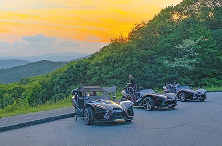 Joyride the Blue Ridge Parkway in Your Slingshot