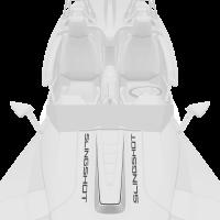 Center Hood Decal Kit - White Lightning