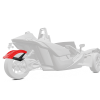 305 mm. Rear Fender - Red Pearl - Image 1 of 4