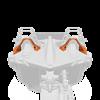 Painted Lower Hoop Accent Kit - Afterburner Orange - Image 1 de 4