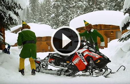 Santa's Helpers Building Snowmobiles for the Holidays