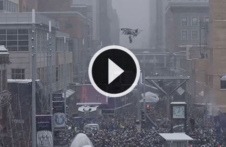 Levi LaVallee's Bold North UpsideDowntown Jump