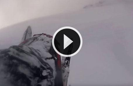 Chris Burandt fait de la motoneige en Amérique du Sud