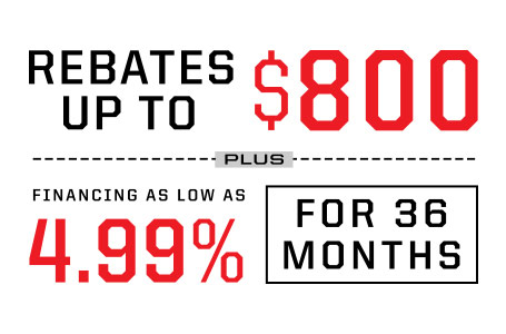 Rebates up to $800