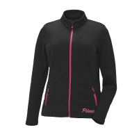 Women's Full-Zip Mid Layer Jacket with Pink Polaris® Logo, Black