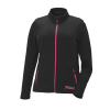 Women's Full-Zip Mid Layer Jacket with Pink Polaris® Logo, Black - Image 1 of 3