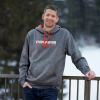 Men's Racing Hoodie with Logo, Gray - Image 2 of 2